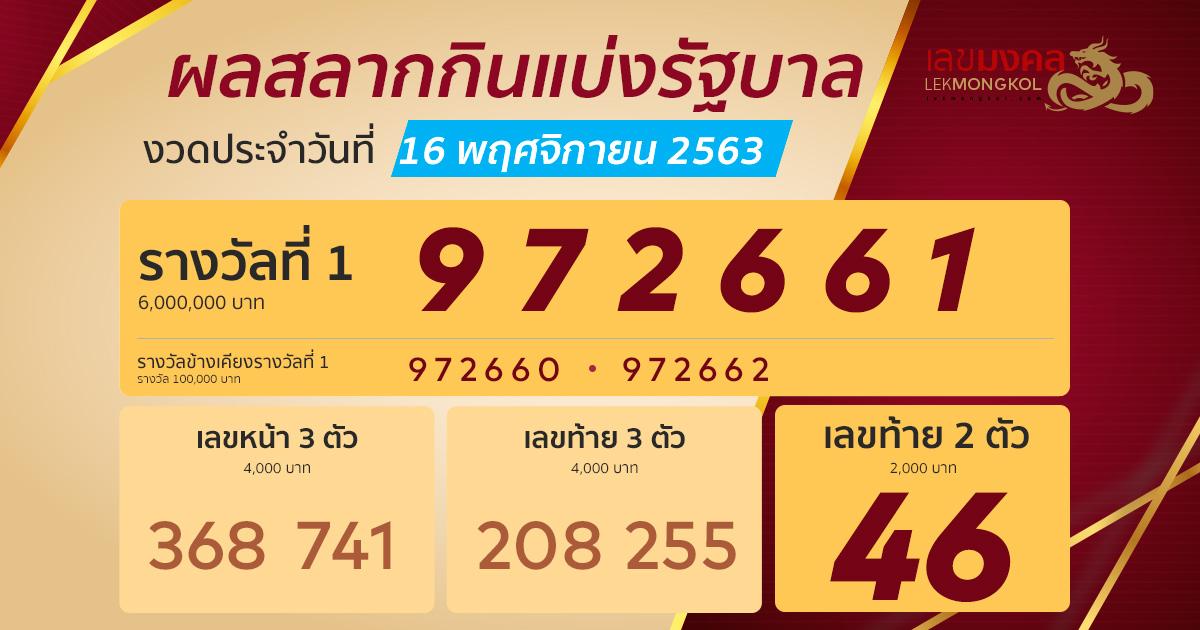result-lotto-thai-161163